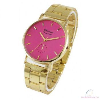Geneva Misty Arany Színű Női Karóra - Pink