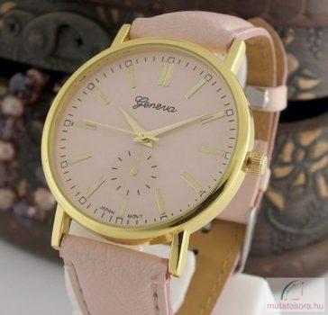 Geneva Pretty Arany Színű Női Óra - light pink