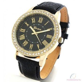Geneva Charming Köves arany színű Női karóra Fekete