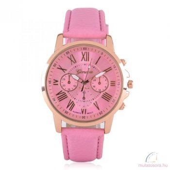Geneva Platinum Rose Gold Színű Női karóra Pink