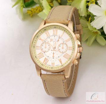 Geneva platinum arany női óra - bézs