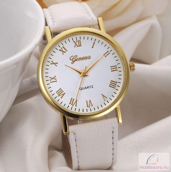 Geneva Classic Női karóra - fehér - Akciós 94ef9fe67a