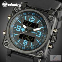 Infantry katonai digitális kvarc karóra kék világítással