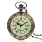 Bronz színű láncos óra