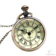 Antik retro bronz színű láncos óra