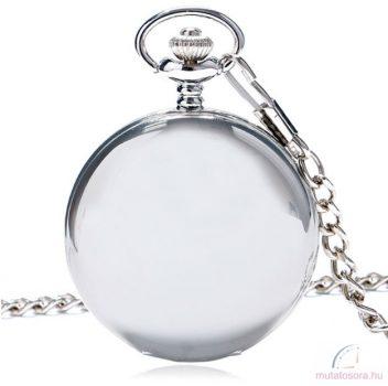 Ezüst színű antik láncos óra