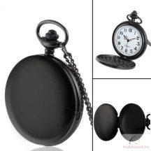 Fekete fehér antik láncos óra