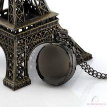 Kisméretű fekete antik láncos óra