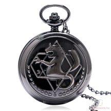 Fekete láncos óra sárkány mintázattal