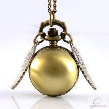 Szárnyas bronz színű antik láncos óra