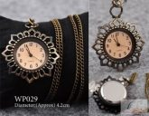 Bronz színű virágos láncos óra