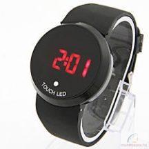 Fekete Kerek Digitális LED óra
