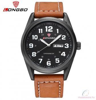 Longbo Férfi Divat óra - világos barna