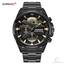 Longbo 80242 fémszíjas férfi karóra