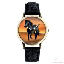 Lovas uniszex karóra - fekete