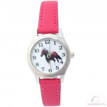 Lovas gyerek karóra - rózsaszín