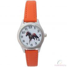 Lovas gyerek karóra - narancssárga