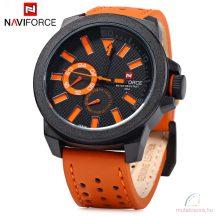 Naviforce nagyméretű férfi kvarcóra - narancs-fekete