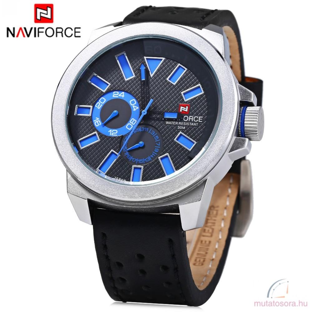Naviforce nagyméretű férfi kvarcóra - kék - Akciós 4eaac23d67