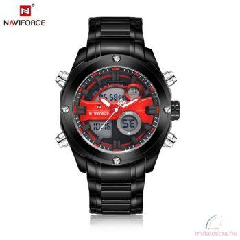 Naviforce 9088 férfi karóra - fekete-piros- dobozos