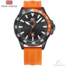 Mini Focus szilikonszíjas férfi karóra - Narancs