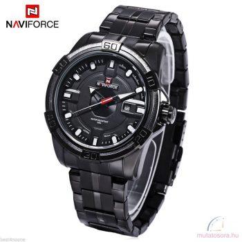 Naviforce 9079 fémszíjas fekete férfi karóra