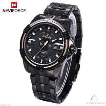 Naviforce 9079 fémszíjas fekete férfi karóra - arany