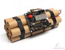 Hatástalanítható dinamit formájú bomba digitális ébresztőóra