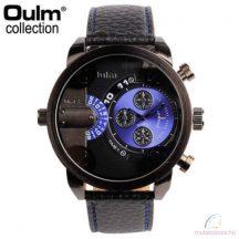 Oulm Dual Time Nagyméretű Férfi karóra - kék
