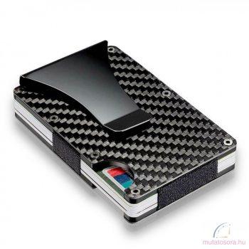 Lopásgátló fém kártya-pénztárca Carbon