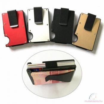 Lopásgátló fém kártya-pénztárca piros