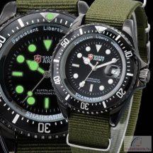 Shark Army military férfi karóra - zöld
