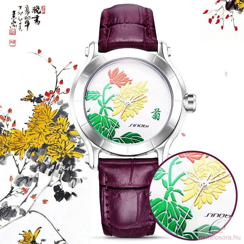 Sinobi virágos női karóra - több színben - Akciós 23b7a0eec2