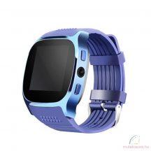T8 bluetooth okosóra SIM támogatással - kék
