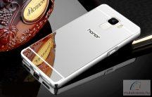 Huawei Honor 7 Alumínium Keretű Tükrös Tok Ezüst