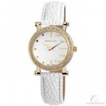 Excellanc Doris köves arany színű női óra fehér