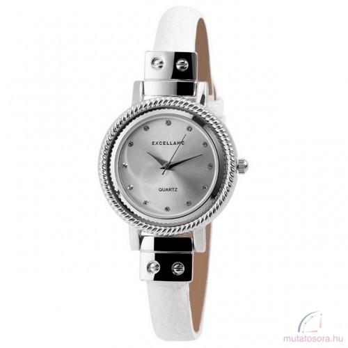 Excellanc Sara ezüst színű női óra fehér - Akciós ff021bd8c4
