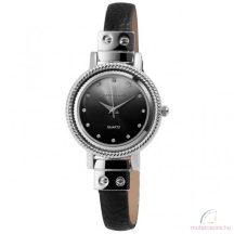Excellanc Sara ezüst színű női óra fekete