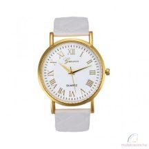 Geneva Zara arany színű női óra fehér