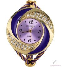 Női Köves Karperec óra - több színben