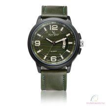 V6 Military Bőr férfi karóra - zöld