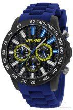 Valentino Rossi VR 46 férfi szilikon karóra - Kék/sárga