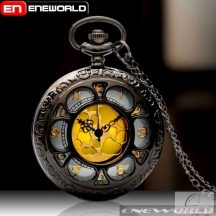 Antik díszített láncos óra